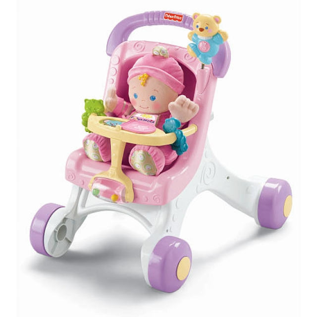 Fisher Price Baby Pram Pink