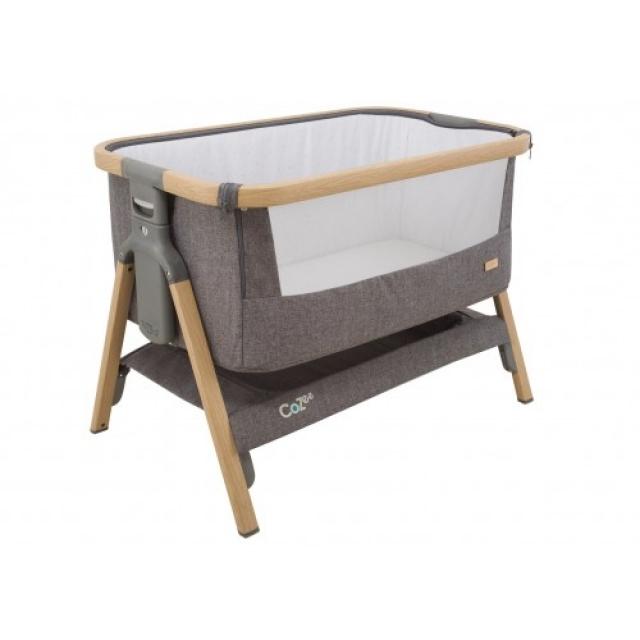 Tutti Bambini CoZee bedside crib - oak and charcoal 1