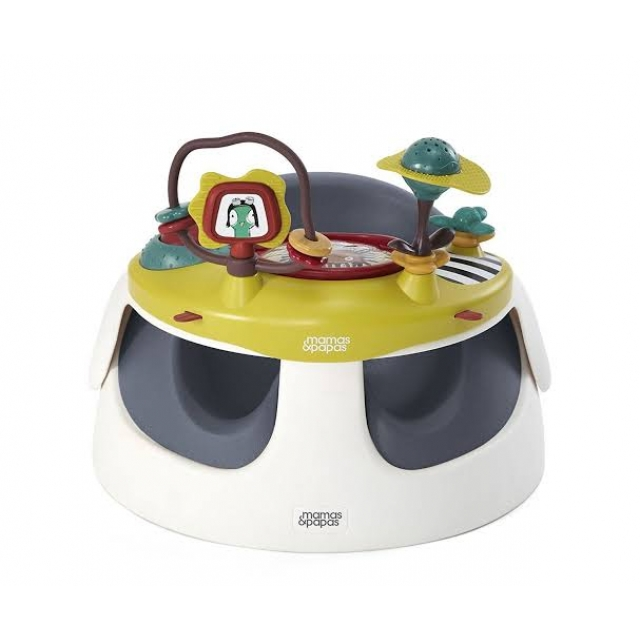 Mamas Papas Baby Snug with Play Tray - Green Tale
