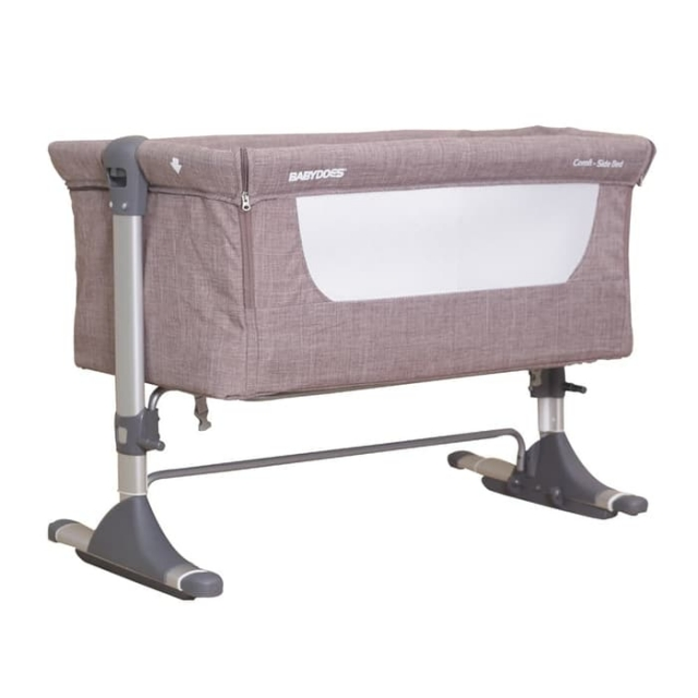 Babydoes Side Sleeping Crib - Grey (1)